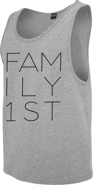 """""""FAMILY FIRST"""" Jersey Big Tank"""