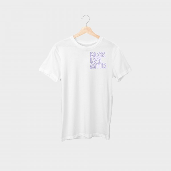 """#blacklivesmatter Purple Oversize Brustprint"" Unisex Organic T-Shirt"