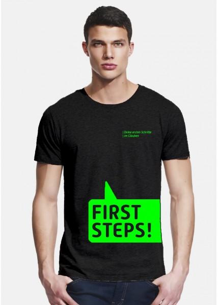 """""""First Steps"""" T-Shirt Herren Schnitt"""