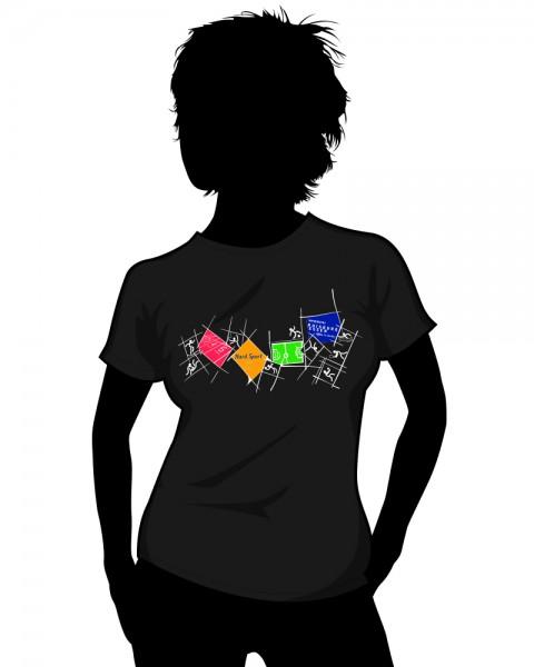 """Uni Essen"" Crewneck Sports T-Shirt (Women)"