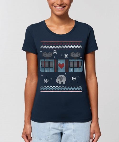 """Damen T-Shirt """"Schneebebahn"""""""