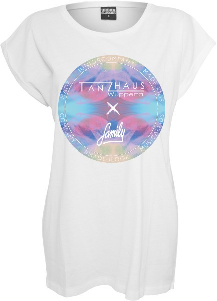 """TANZHAUS X FAMILY COLORFUL"" Ladies Extended Shoulder Tee"