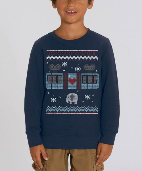 "Kinder Unisex Sweatshirt ""Schneebebahn"""