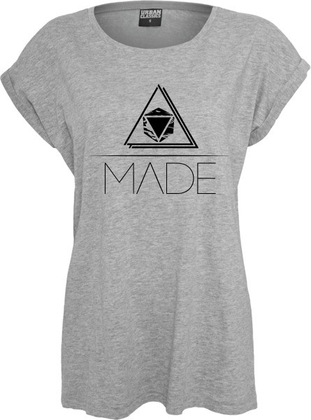"""DREIECK"" Ladies Extended Shoulder Tee"