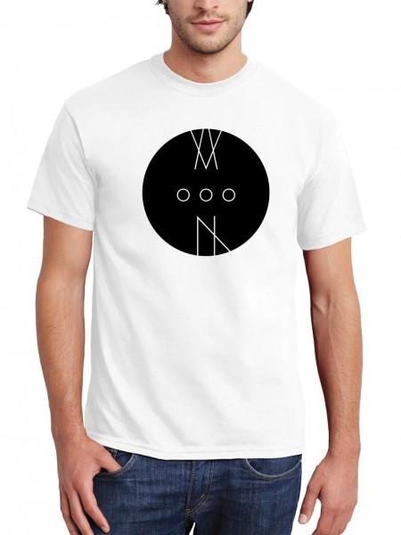 """""""MoooN"""" Herren T-Shirt mit schwarzem Druck"""