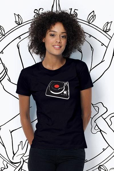 Vinyl Damen T-Shirt