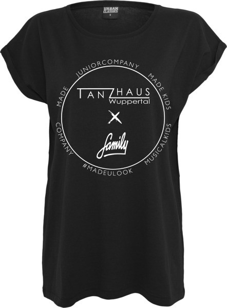 """""""TANZHAUS X FAMILY"""" Ladies Extended Shoulder Tee"""