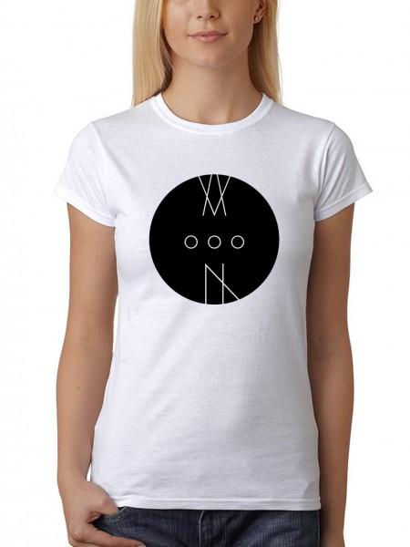 """""""MoooN"""" Damen T-Shirt mit schwarzem Druck"""