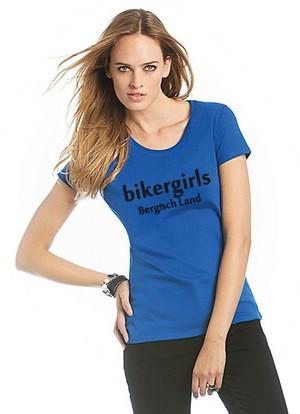 I Love Bikergirls Damen Rundhals Shirt