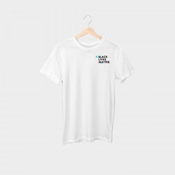 """""""#blacklivesmatter Cyan Brustprint"""" Unisex Organic T-Shirt"""