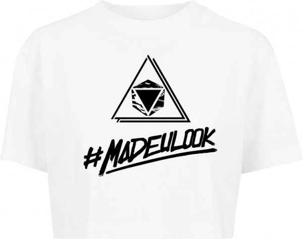 """#MADEULOOK"" Ladies Short Oversized Tee"