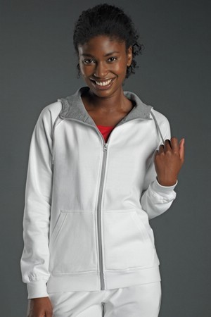 Ladies' Tagless Hooded Sweatjacket Sports